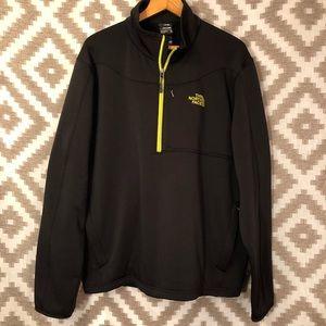 Men's North Face Black Fleece Half Zip Jacket